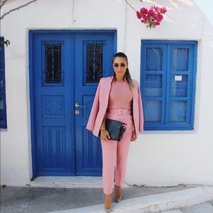 BLOGGERS FAVORITE GORGEOUS ZARA NWT Pink Blazer